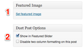 Add to featured slider example